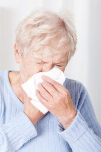 bigstock-Senior-Lady-With-Running-Nose-60605843-200x300 Tips for Caring for a Senior Suffering from the Flu