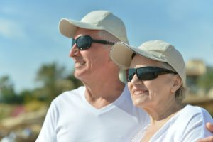 bigstock-Senior-couple-at-sea-in-sungla-61903754-300x200 Sun Safety for Seniors