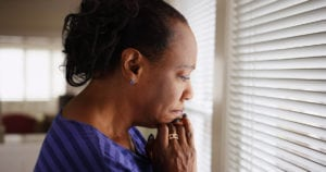 bigstock-An-Older-Black-Woman-Mournfull-168286880-300x158 How Should You Respond if a Senior with Dementia Says She Wants to Go Home?